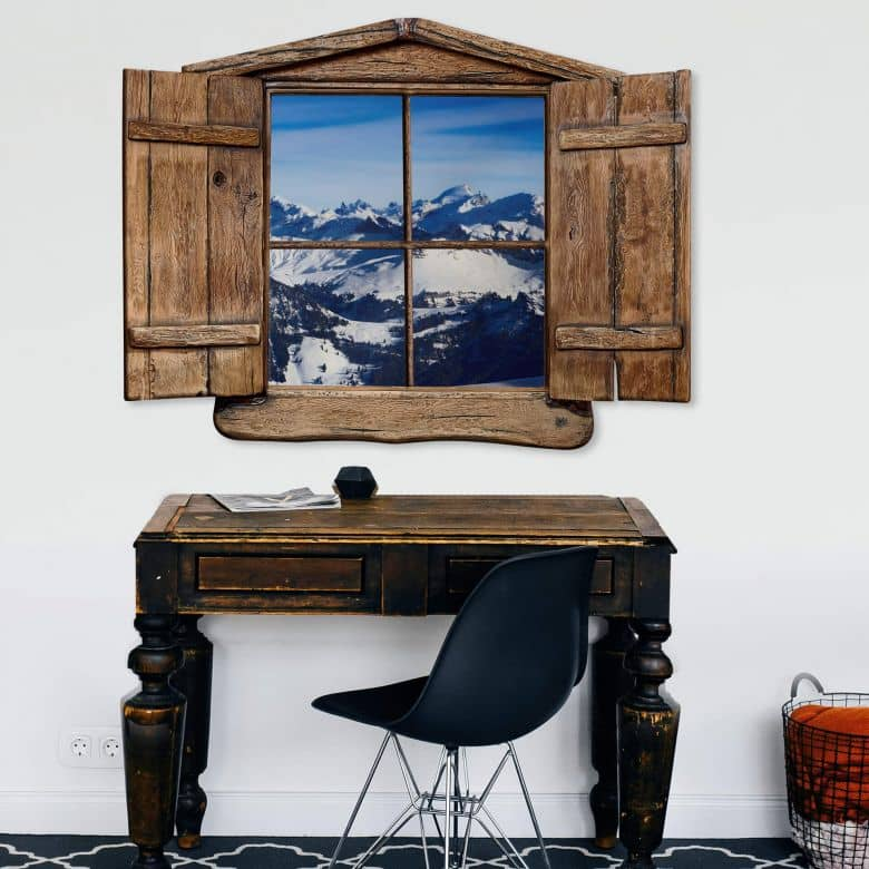 Trompe L'oeil Wall sticker  - The Alps