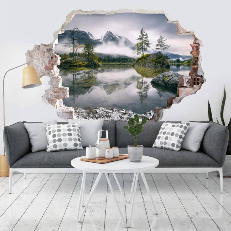 3D Wall sticker - Wiemer - Foggy Day