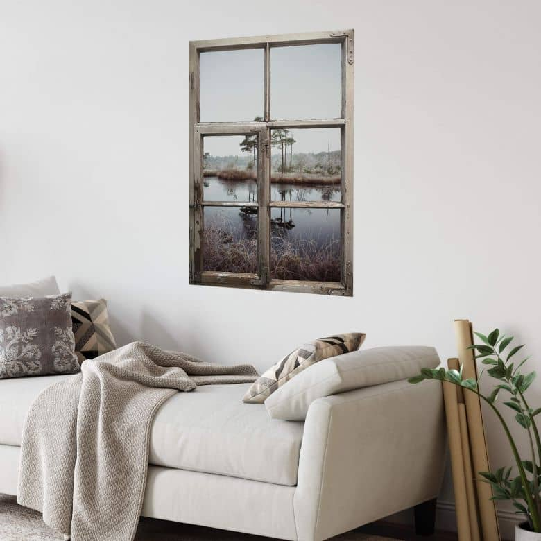 3D Wandtattoo Shabby Fenster - Together