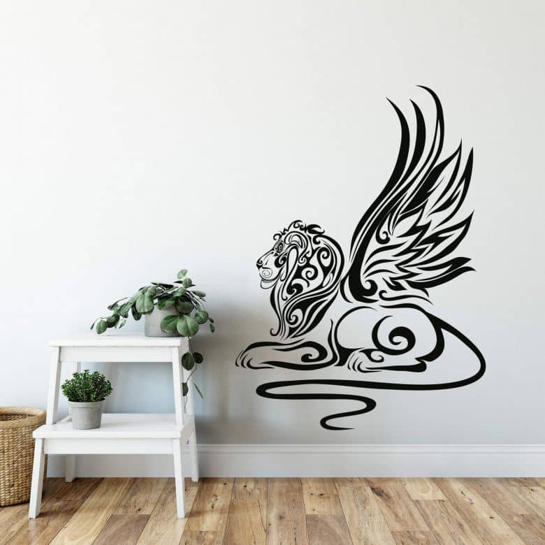 Sticker mural - Tribal Lion