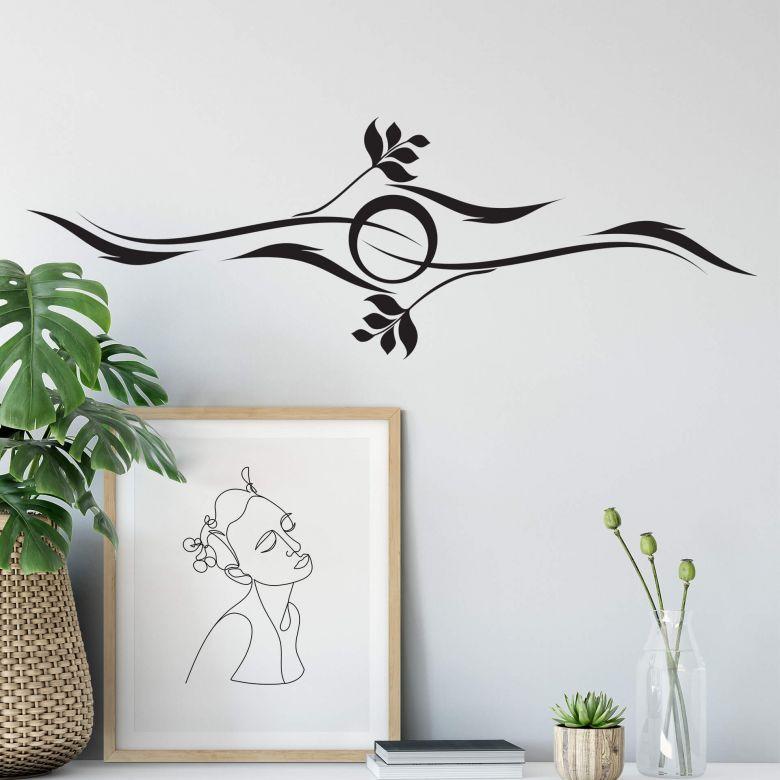 Sticker mural - Tribal Soleil Marin