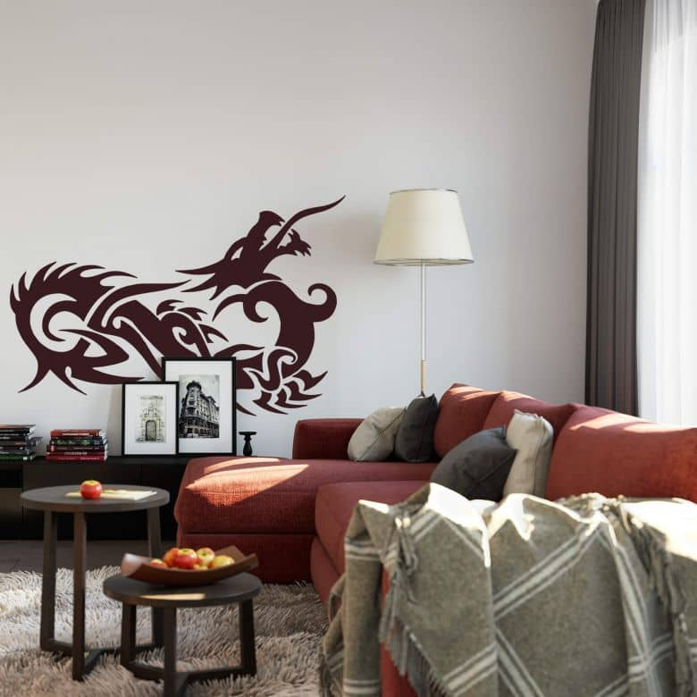 Sticker mural - Dragon Chinois