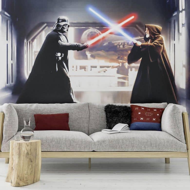 Fototapete Star Wars Vader vs. Kenobi