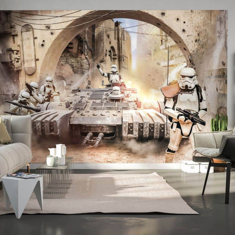 komar fototapete star wars tanktrooper 027 dvd4 wall. Black Bedroom Furniture Sets. Home Design Ideas