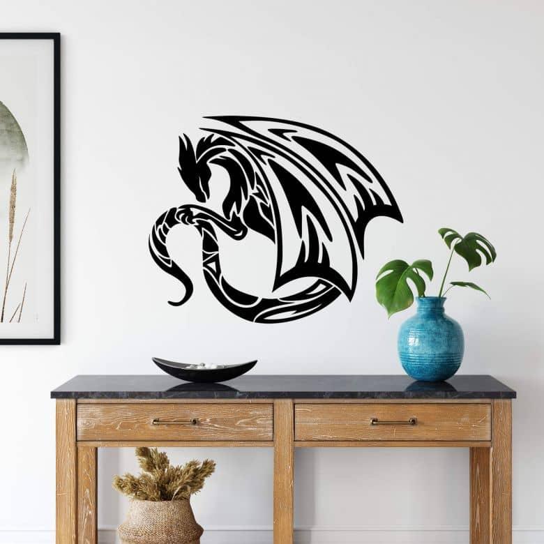 Sticker mural - Dragon courageux