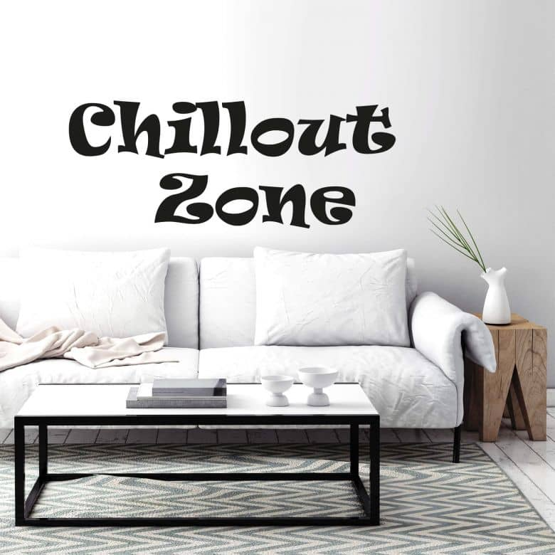 Muursticker Chill-out Zone