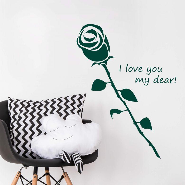 Muursticker I love you my dear