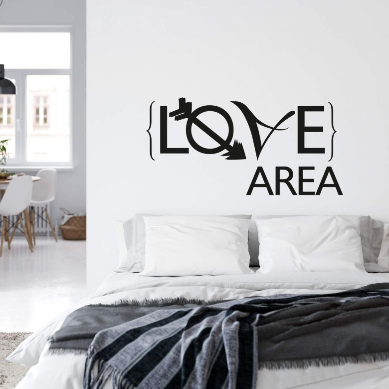 Muursticker Love Area