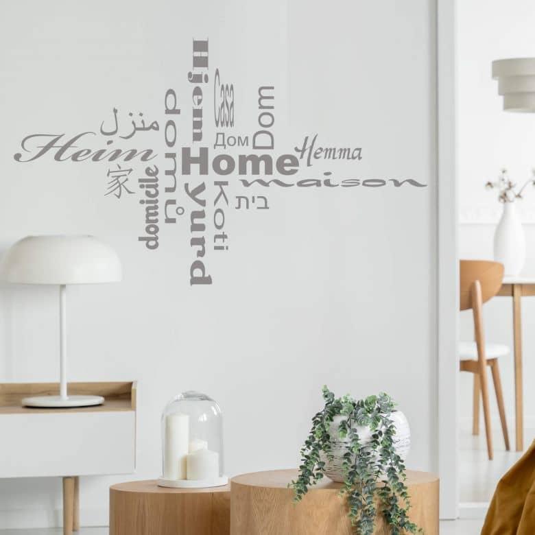 Sticker mural - Maison Multilingue