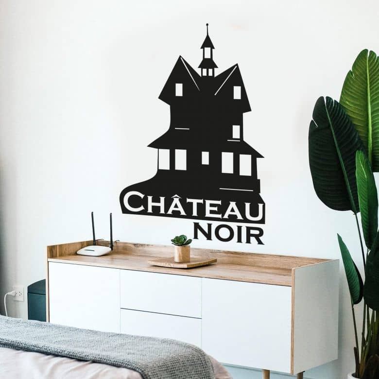 Sticker mural - Château noir