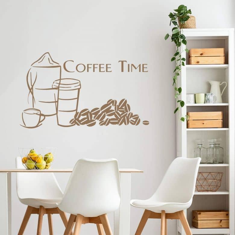 Wandtattoo Coffee Time 1