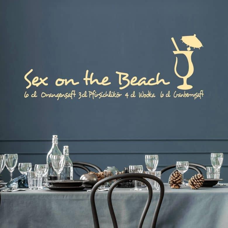 Wandtattoo Sex on the beach