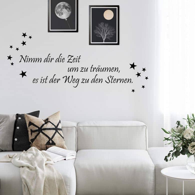 Wandtattoo Nimm dir die Zeit um zu träumen... 2
