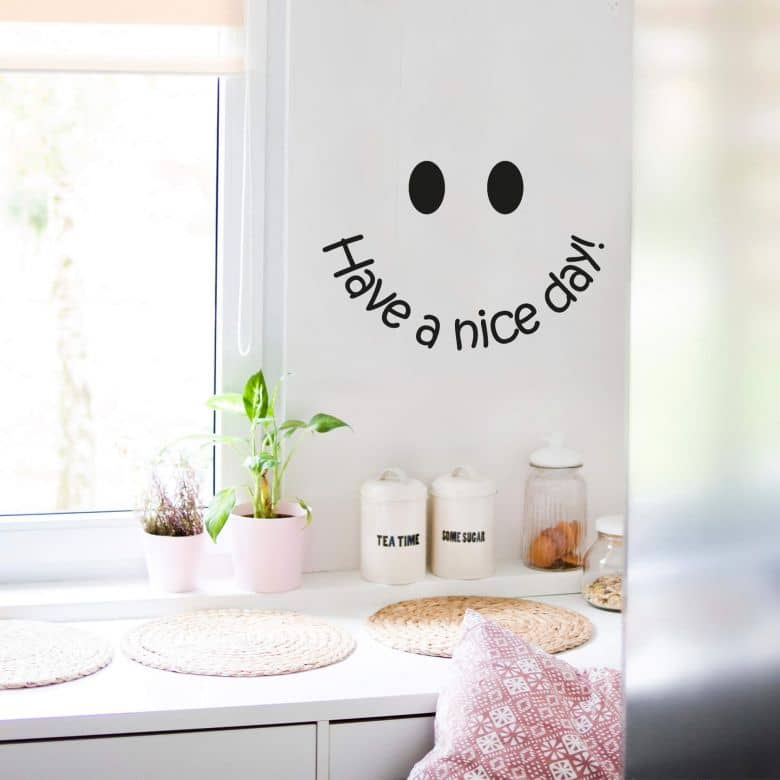 Sticker mural - Smiley