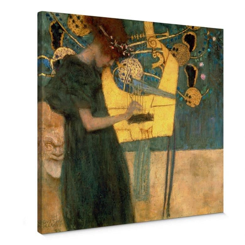 Leinwandbild Klimt - Die Musik