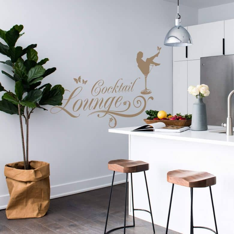 Wandtattoo Cocktail Lounge Feminine Dekoration Wall Art De