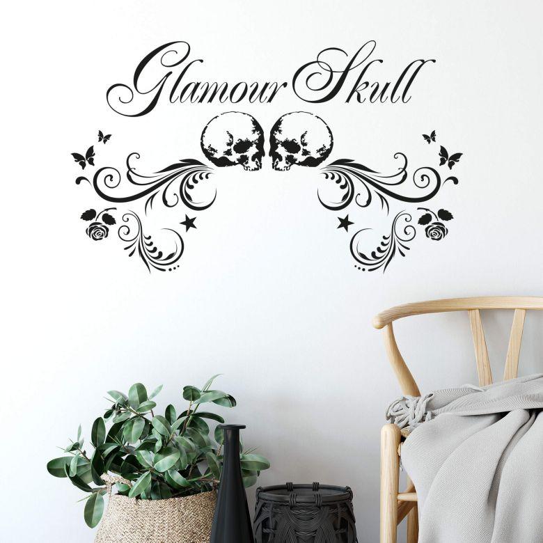 Sticker mural - Glamour Skull
