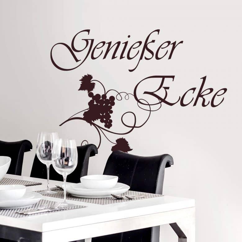 Wandtattoo Geniesser Ecke Dekoidee Fur Die Leseecke Oder Die Kuche Wall Art De