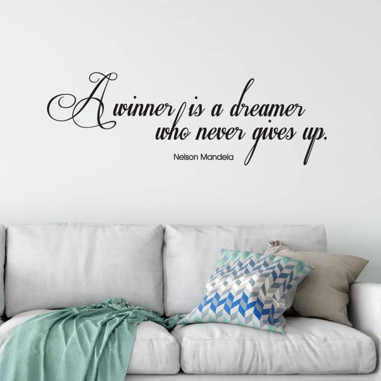 Adesivo murale - A winner is a dreamer...