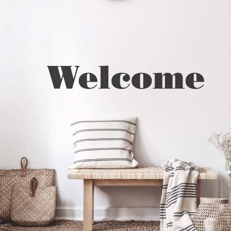 Welcome 3 Wall sticker