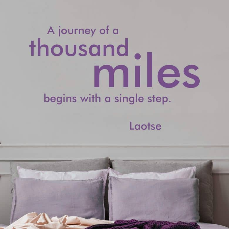 Adesivo murale - A journey of a thousand miles...