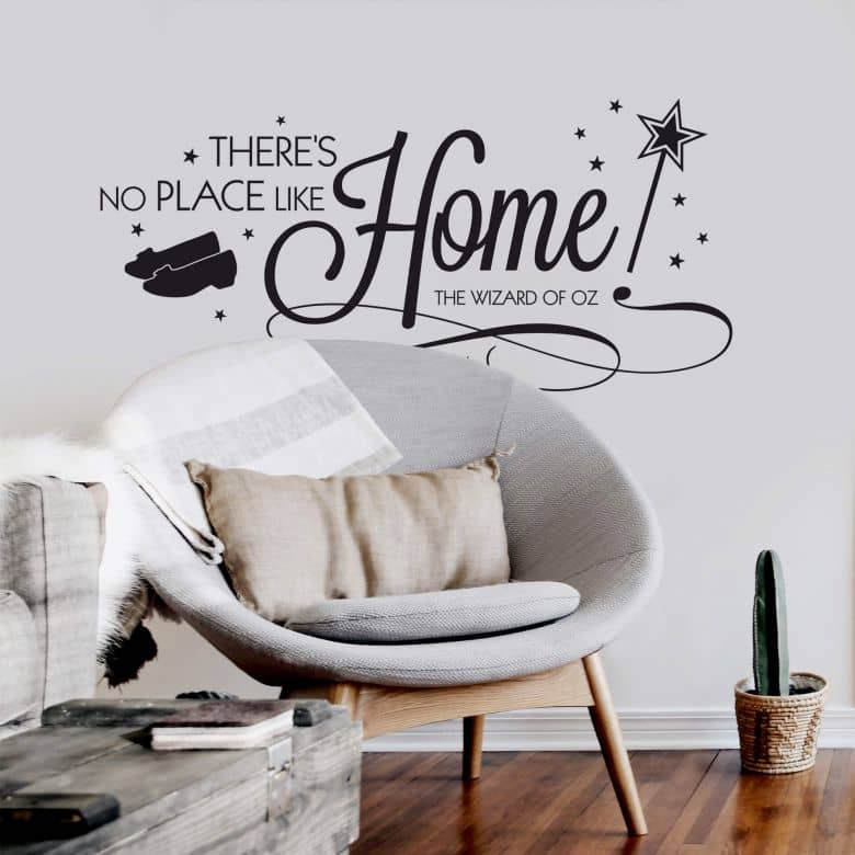 Adesivo murale - There's no place like home