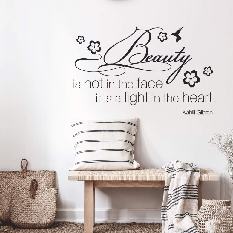 Adesivo murale - Beauty is not in the face...