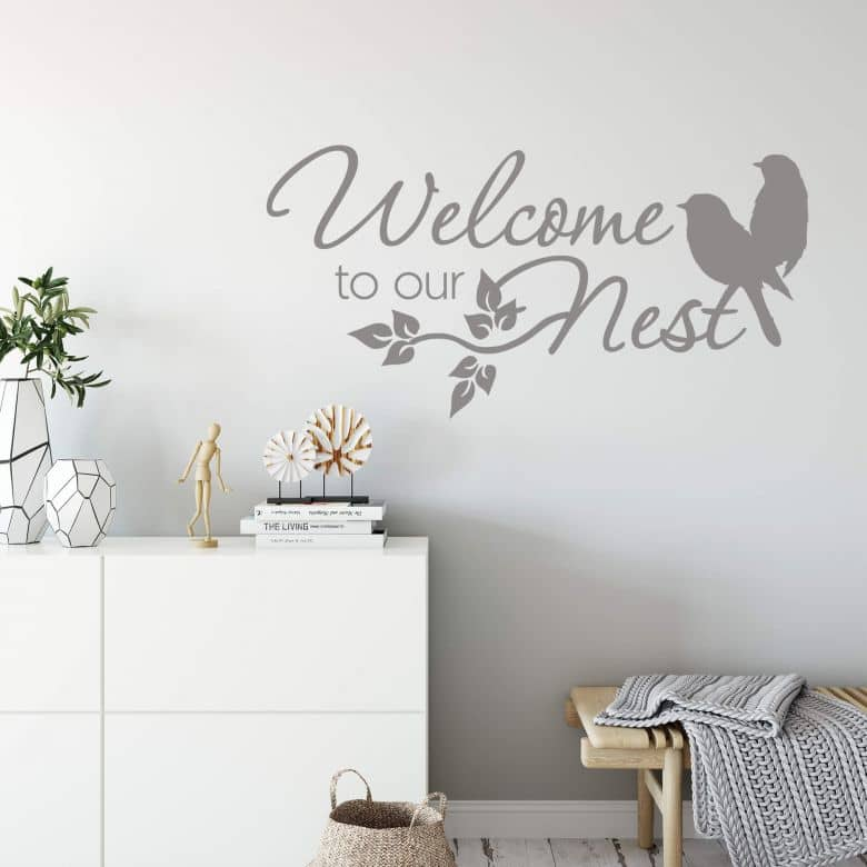Welcome to our Nest Wall sticker