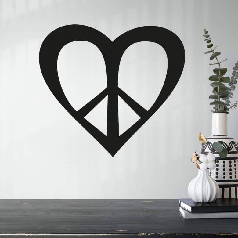 Adesivo murale - Love 'n Peace