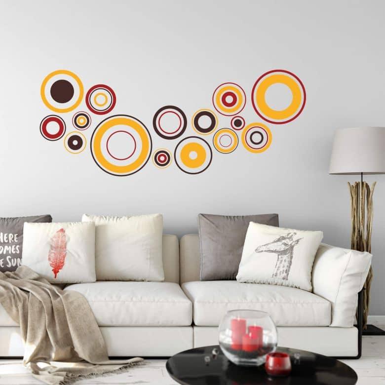 Wandtattoo Retro Discs Orange Coole Deko Fur Ihr Zuhause Wall Art De