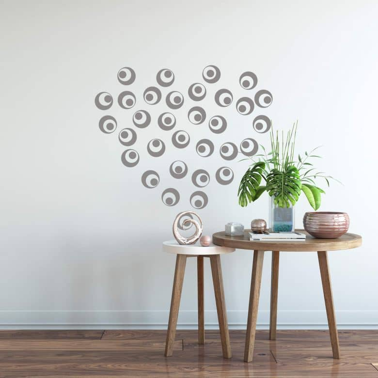 Sticker mural - Sphères rétro