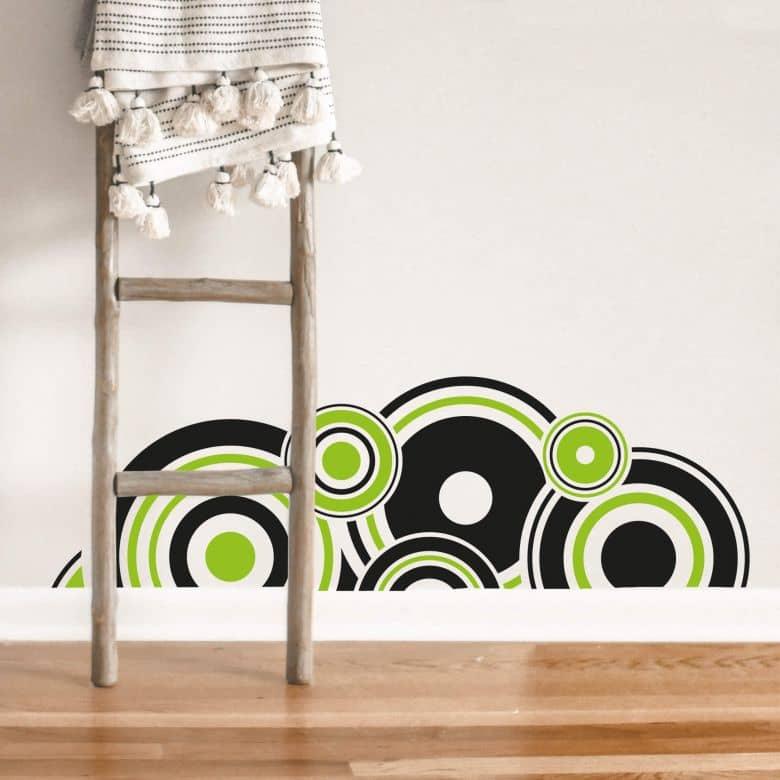 Retro Circles Green Wall sticker