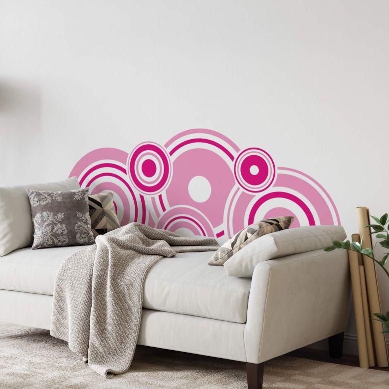 Sticker mural - Rétro fuchsia