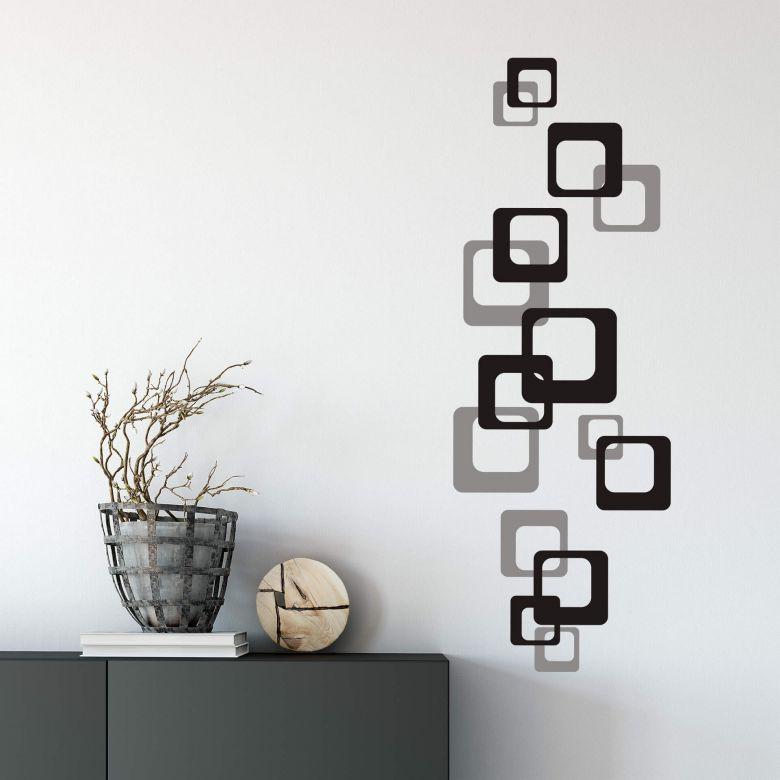 Sticker mural - Cubes rétro bicolores