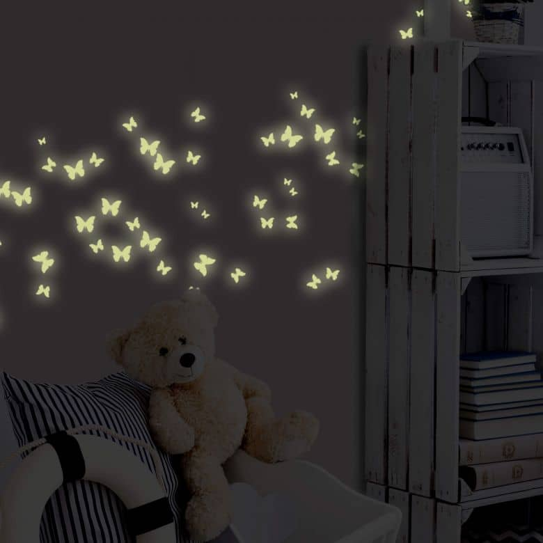 Sticker mural - Lumineux Phosphorescents - Papillons