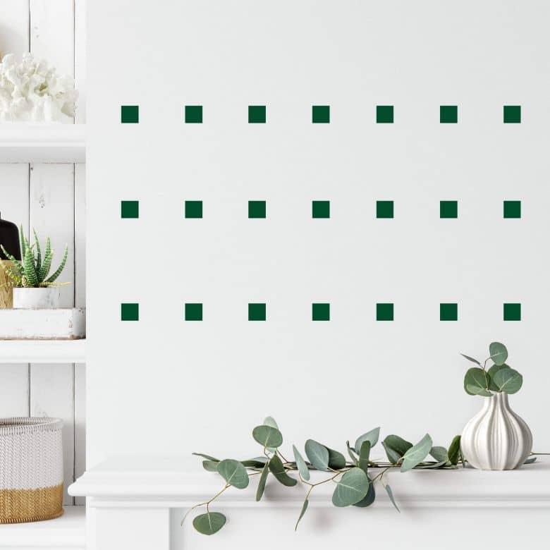 Sticker mural - Set carrés (50 pièces)