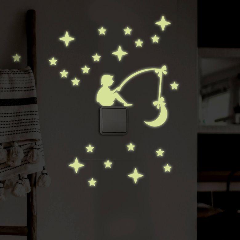 Wall sticker Light switch Luminous Stars