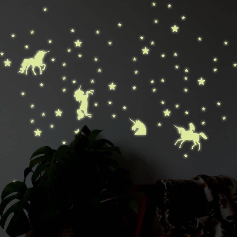 Wall Sticker Stars Unicorn Set