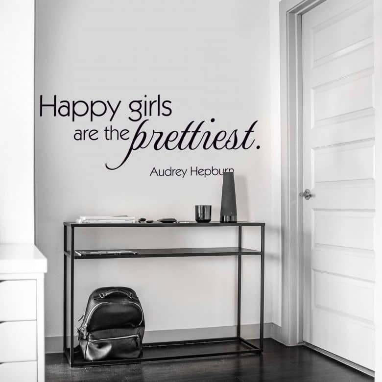 Happy girls are the prettiest Wall sticker