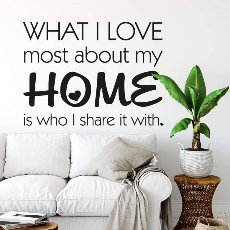 What I love most...2 Wall sticker