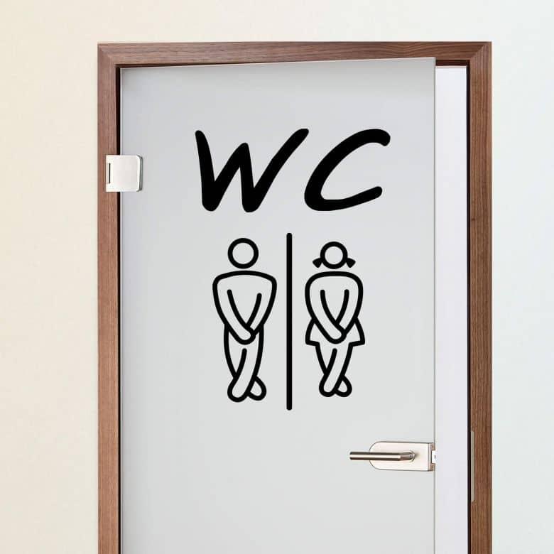 WC 1 Wall sticker