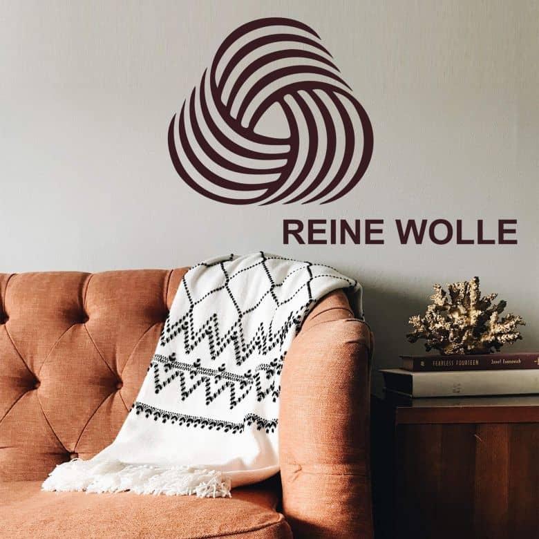 Wandtattoo Wäschezeichen Reine Wolle