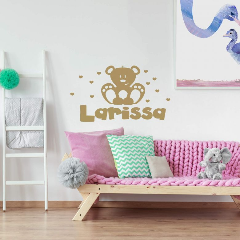 Teddy Bear + Name Wall sticker