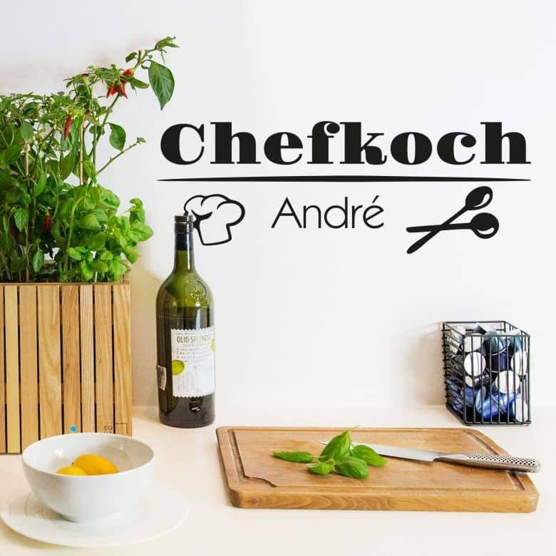 Wandtattoo + Name Chefkoch