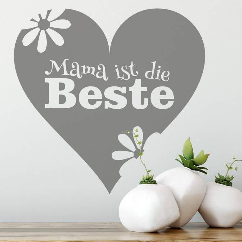 Wandtattoo Mama Ist Die Beste Schoner Spruch Fur Die Besten Mutter Der Welt Wall Art De