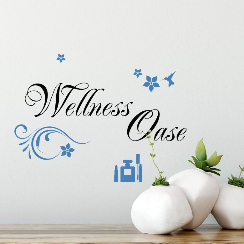 Muursticker Wellness Oase (2-kleurig)