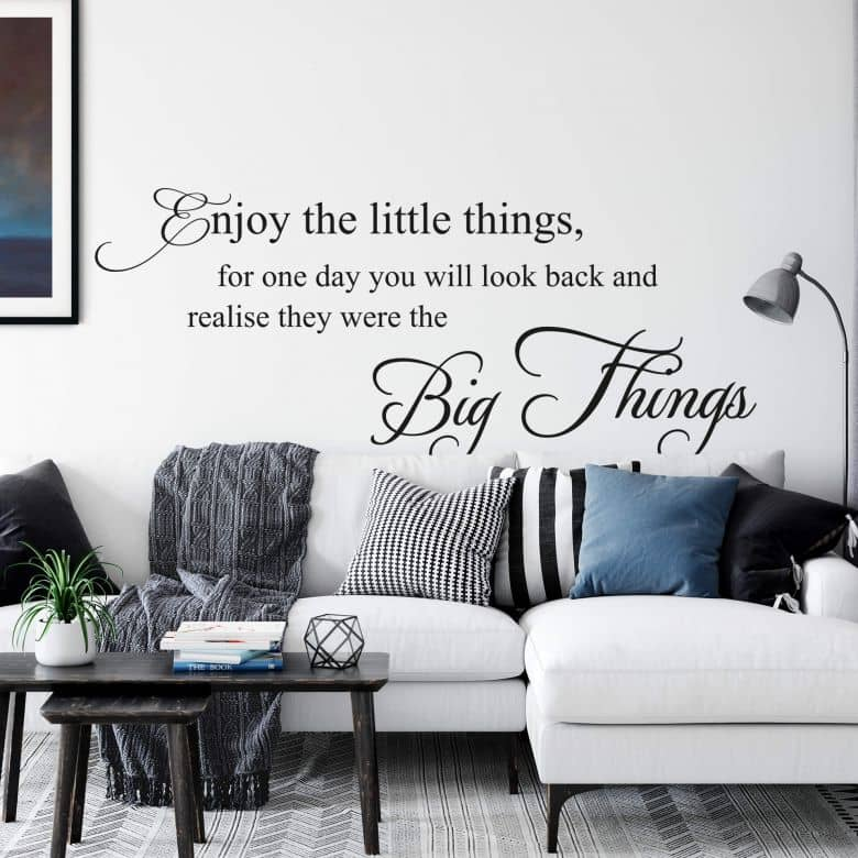 Enjoy the little things.. 01 Wall sticker