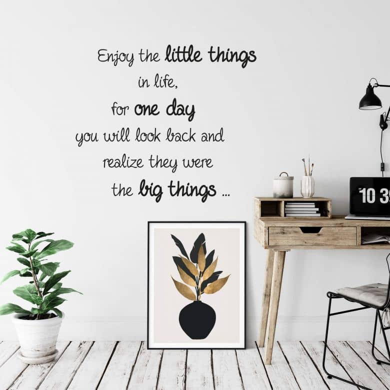Enjoy the little things Wall sticker