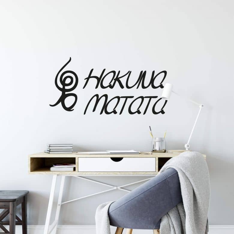 Hakuna Matata 02 Wall sticker | wall-art.com