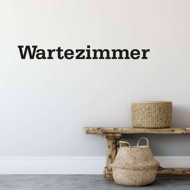 Wandtattoo Wartezimmer 02